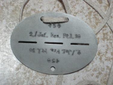 ドイツ国防軍 認識票 (シュミット製・複製品)