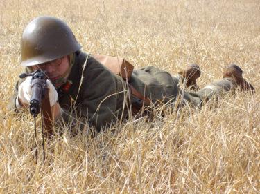 日本軍の小銃射撃姿勢