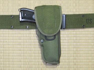 アメリカ軍 M12ホルスター&M9用シングル・マガジンポーチ (ビアンキ製・実物)