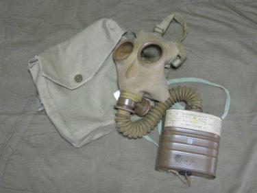 日本陸軍と同型の民間ガスマスク ~ 防空用防毒面・団用一号甲型 (実物・民生品)