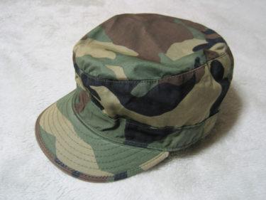1980年代の米軍ヘッドギア ~ アメリカ陸軍 ウッドランド迷彩 フィールドキャップ (実物)