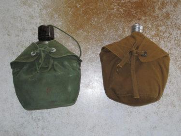 北ベトナム軍 水筒&カバー (濃緑色・実物/カーキ・複製品)