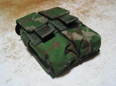 陸上自衛隊 2型迷彩・ピストル用ダブルマガジンポーチ (エスアンドグラフ製・ゲーム用品)
