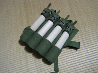 中国人民解放軍 4連手榴弾ポーチ (軍緑色・実物)