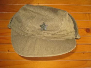 ソ連軍 アフガンカ帽・野戦帽章付 (実物)