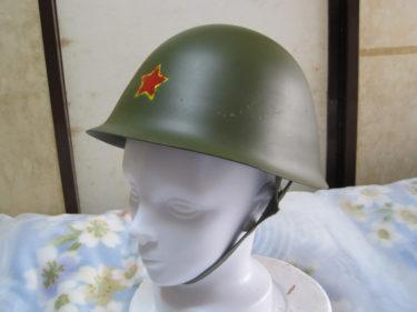 中国人民解放軍 GK-80A ヘルメット・縁取帽章塗装型 (実物)