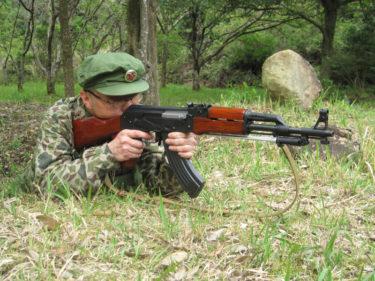 1980年代的陸軍士兵 ~ 中国人民解放軍 陸軍 士兵装備 [56式小銃 (AK-47)]