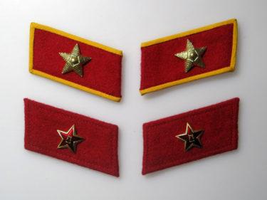中国人民解放軍 85式軍服・襟章 (実物)