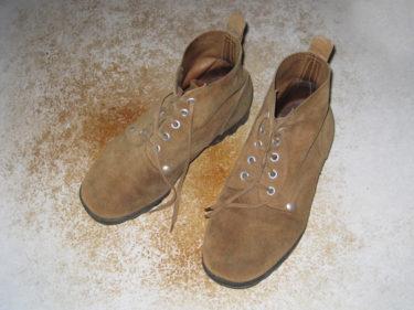 中国人民解放軍 裏革製編上靴 (実物)